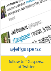 follow Jeff Gaspersz at Twitter for inspiration and innovation Tweeds!
